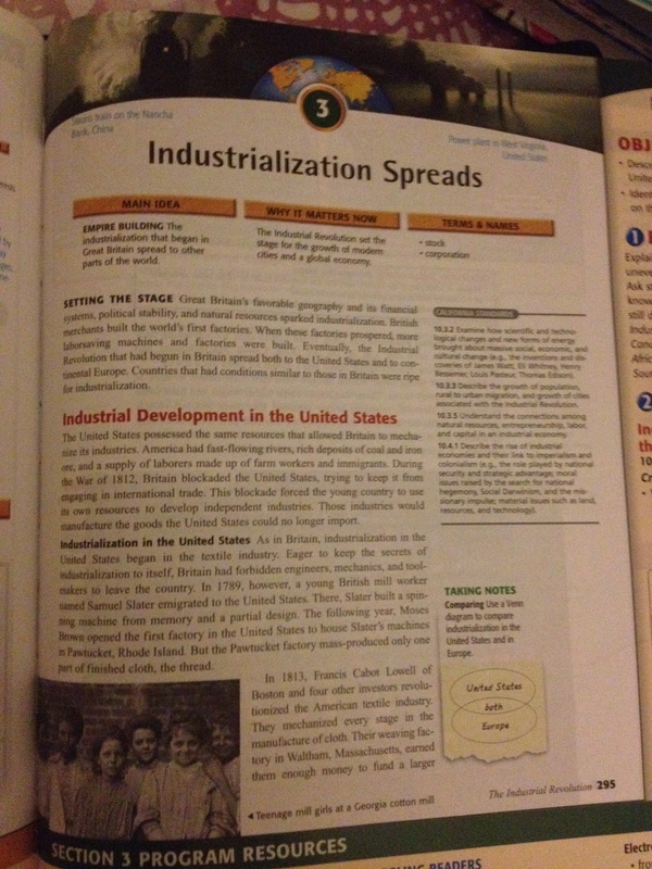 discussion industrialization spreads the industrial revolution rh therevolutionthatindustrialized weebly com